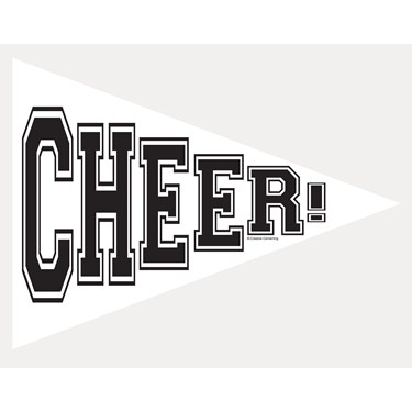School Spirit Pennant Banner - White