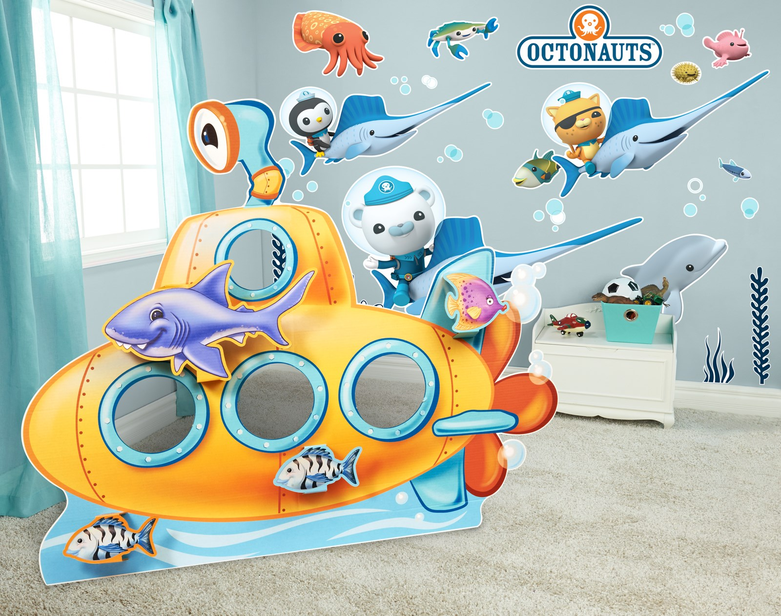sea life giant wall decals and stand in kit