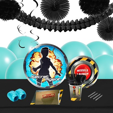 Secret Agent 16 Guest Tableware & Deco Kit