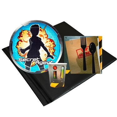 Secret Agent 8 Guest Party Pack