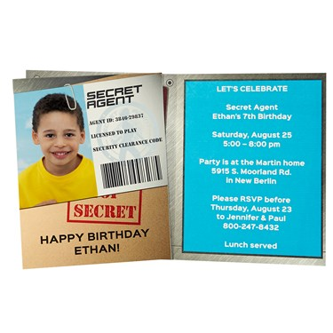 Secret Agent Personalized Invitations (8)