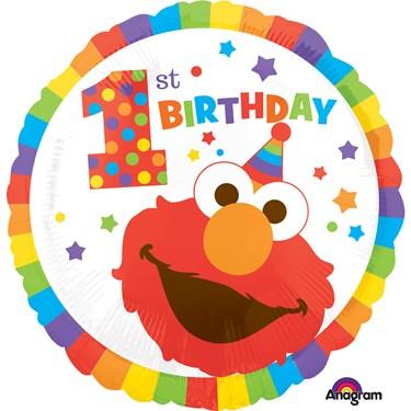 "Sesame Street 1st Birthday 17"" Balloon (Each)"