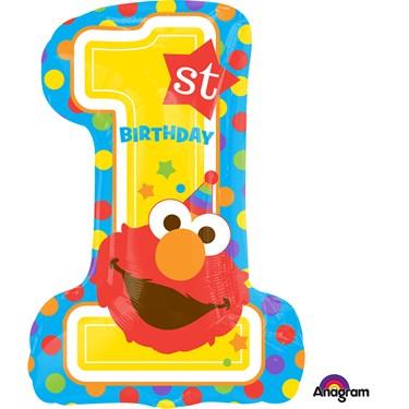 """Sesame Street 1st Birthday 28"""" Balloon"""