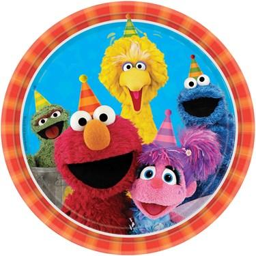 "Sesame Street 2 -  9"" Round Dinner Plates (8)"