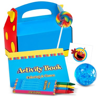 Primary Colors Filled Favor Box (4)