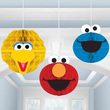 Sesame Street Honeycomb Decorations (3 Count)
