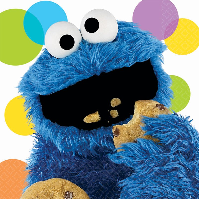 Sesame Street Party Cookie Monster Lunch Napkins