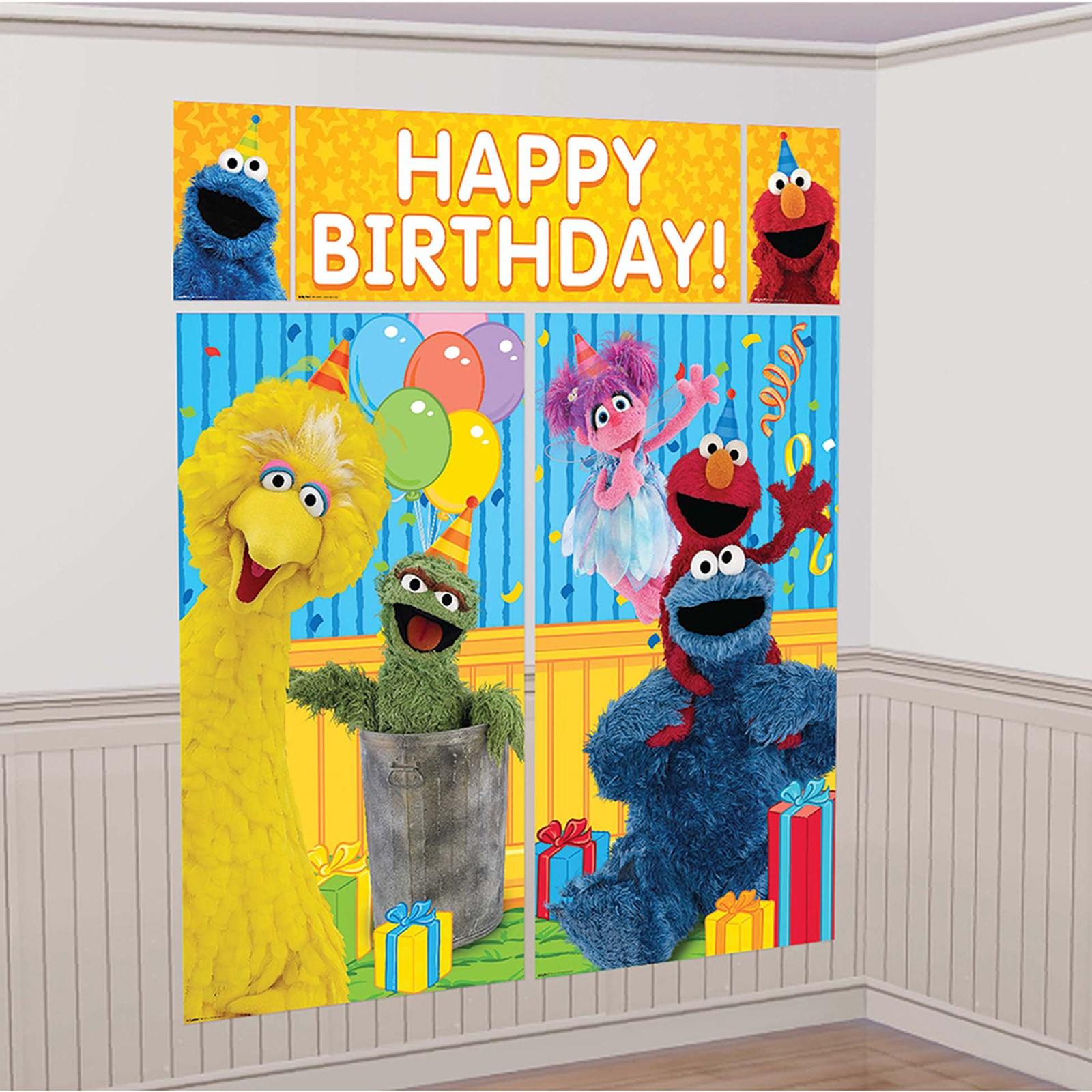 Sesame Street Scene Setter Decoration Set | BirthdayExpress.com