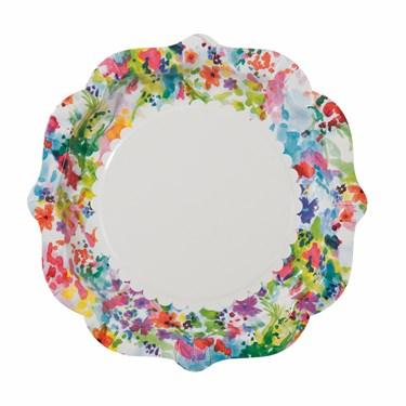 "Shaped Plate, 8"" diameter, 12pk"
