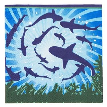 Shark Party Beverage Napkins (16)