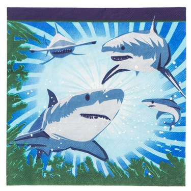 Shark Party Luncheon Napkins (16)