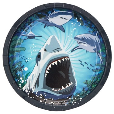 Shark Party Luncheon Plate (8)