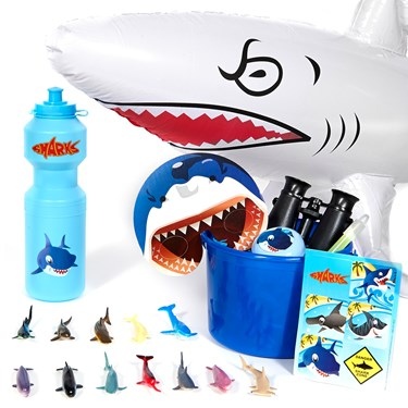 Sharks Filled Party Favor Bucket