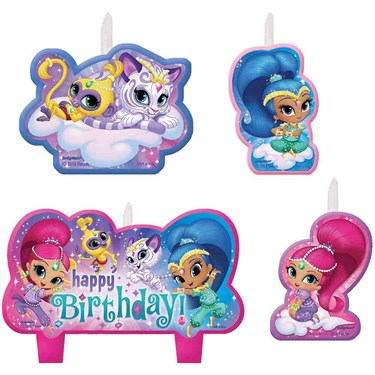 Shimmer and Shine Birthday Candle Set(4)