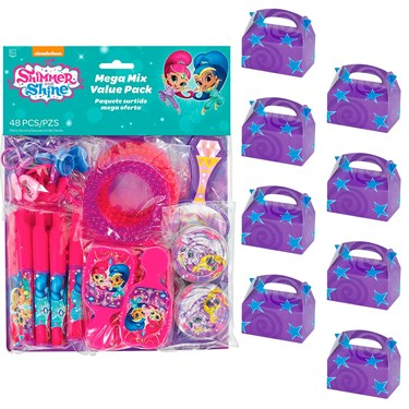 Shimmer and Shine Filled Favor Box Kit