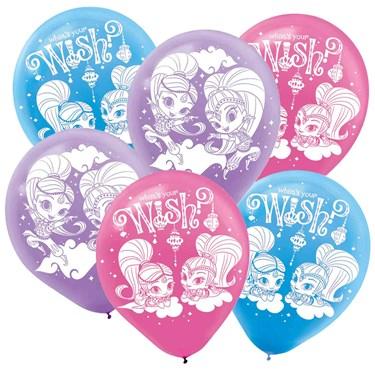 Shimmer and Shine Latex Balloons(6)