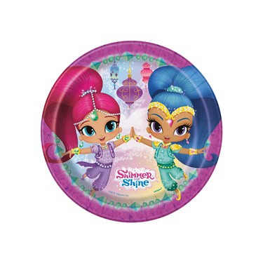 Shimmer & Shine  Round Plates (8)