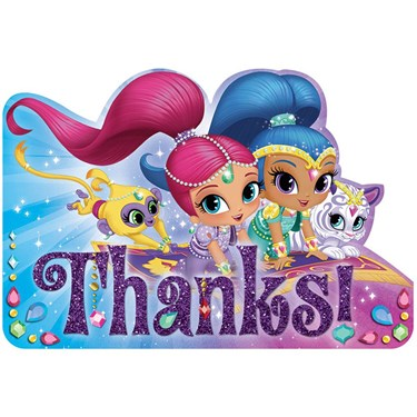 Shimmer and Shine Thank You Notes(8)