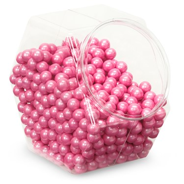 Shimmer Pink Sixlets Candy