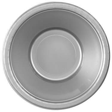 Shimmering Silver (Silver) Plastic Bowls