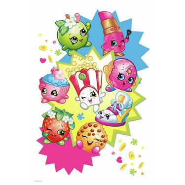 Shopkins Burst Peel And Stick Giant Wall