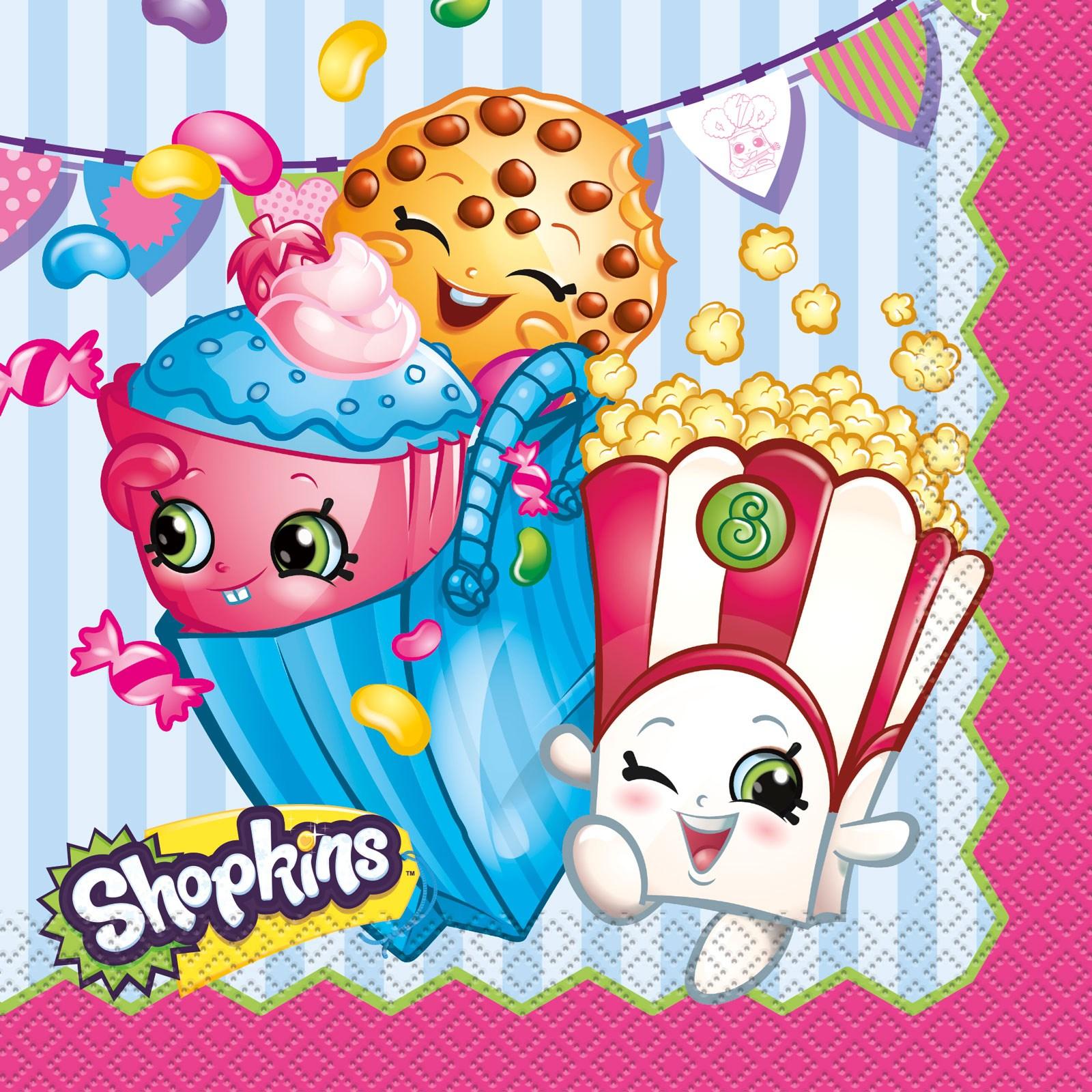 Shopkins lunch napkins - Shopkins pics ...