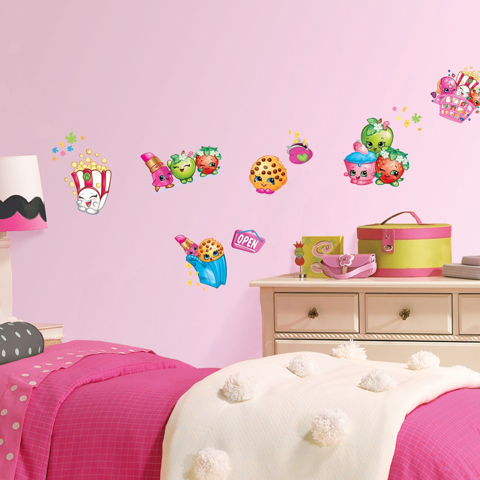 Wallpaper Decal: Shopkins Small Wall Decals