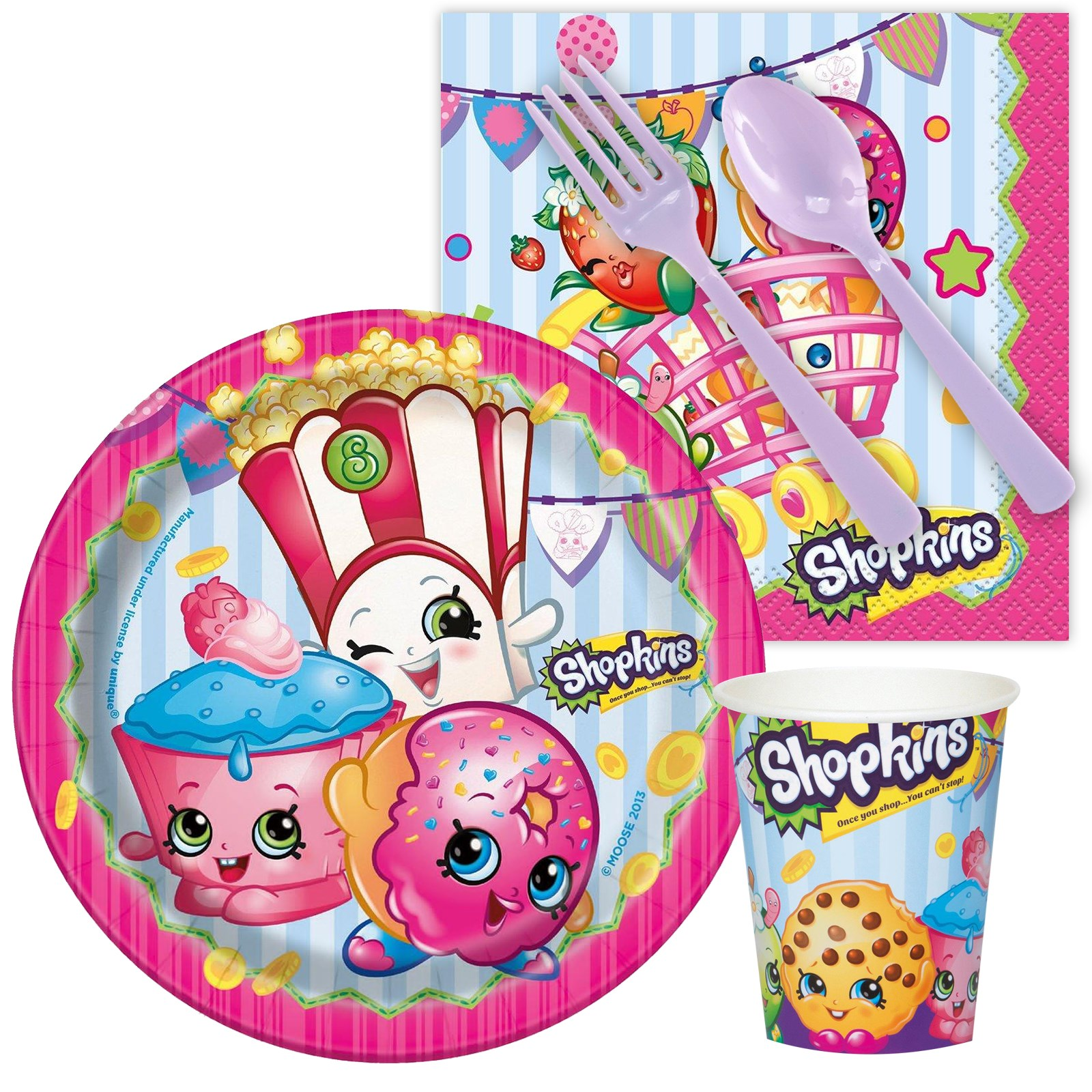 Home Birthday Party Decorations Shopkins Snack Party Pack Birthdayexpress Com