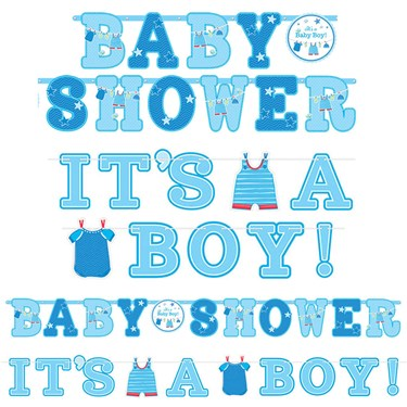 Shower With Love Baby Boy Banner Signs