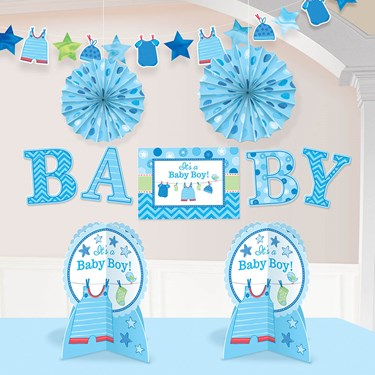 Shower With Love Baby Boy Room Decorating Kit (Each)