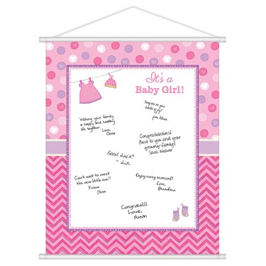 Shower With Love Baby Girl Sign-in (each