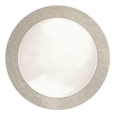 "Silver Glitz 14"" Round Placemats (8)"