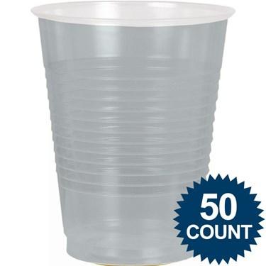 Silver Plastic 16oz. Cup (50)