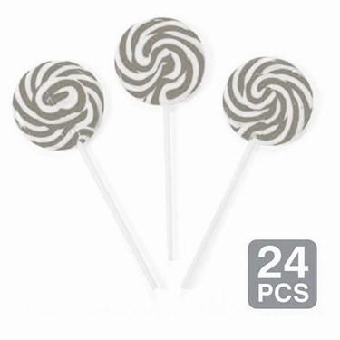 """Silver Swirl 2"""" Lollipops (24)"""