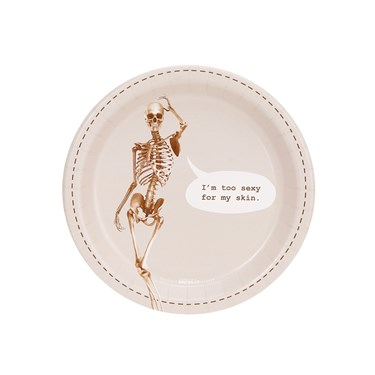 Skeleton I'm Too Sexy For My Skin Dessert Plate (8)