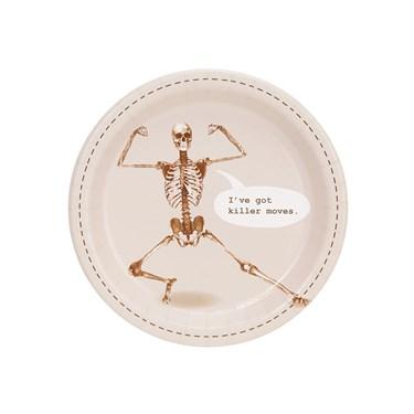 Skeleton I've Got Killer Moves Dessert Plate (8)