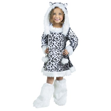 Snow Leopard Toddler Girl Costume