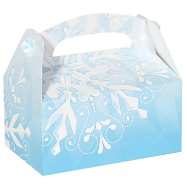 Snowflake Winter Wonderland Empty Favor Boxes (4)