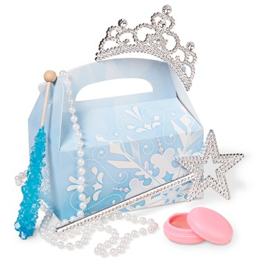 Snowflake Winter Wonderland Party Favor Box (4-Pack)