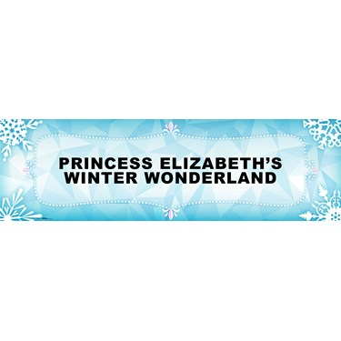 Snowflake Winter Wonderland Personalized Vinyl Banner