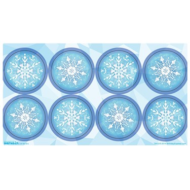Snowflake Winter Wonderland Small Lollipop Sticker Sheet