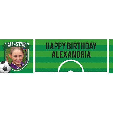 Soccer Personalized Photo Vinyl Banner