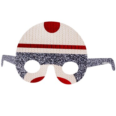 Sock Monkey Red Paper Masks