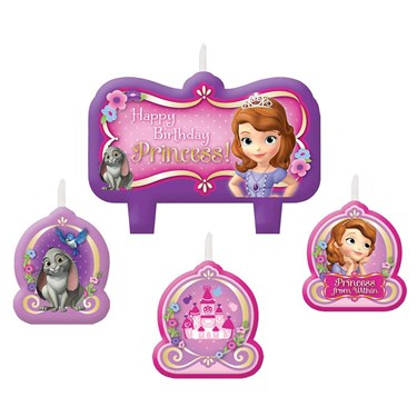 Sofia The First Birthday Candle Set (1)