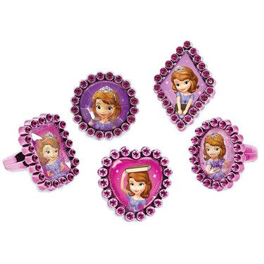 Sofia The First Jewel Ring Favors (18)