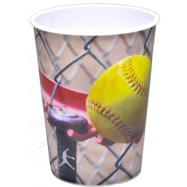 Softball 16oz Plastic Favor Cup