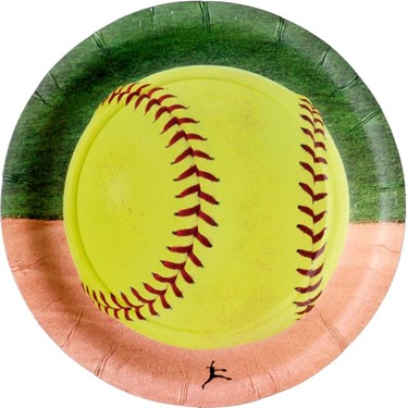 "Softball 7"" Cake Plate (8)"