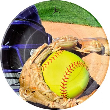 "Softball 9"" Luncheon Plate (8)"