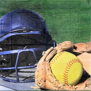 Softball Luncheon Napkins (16)
