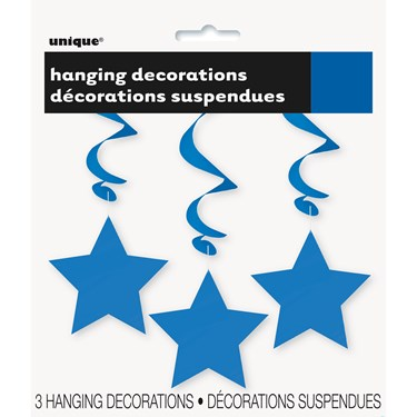 Solid Color Star 36 Hanging Swirl Decor
